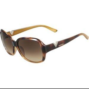 Valentino Havana and Gold Sunglasses